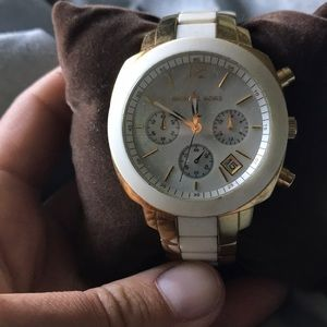 Michael Kors Mother of Pearl White Watch